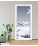 3D snow moon view Door Wall Mural Photo Wall Sticker Decal Wall AJ WALLP... - $74.79+