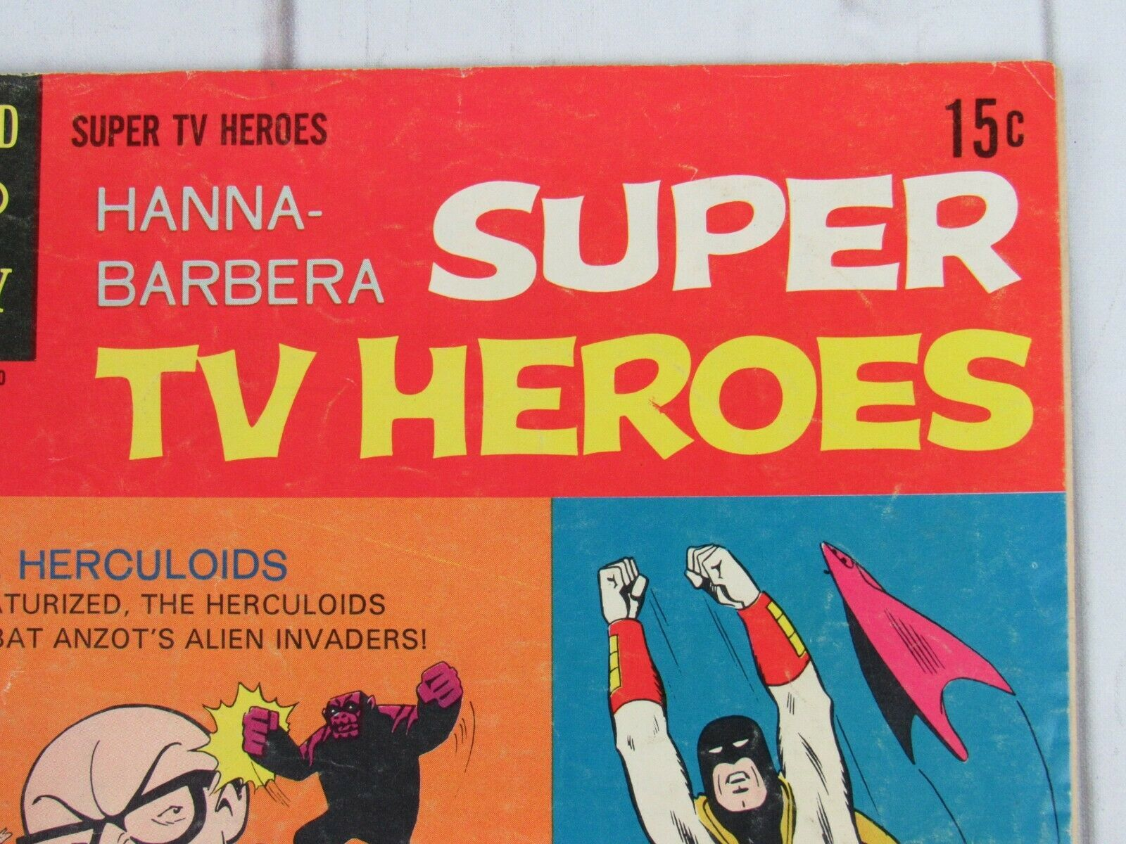 HANNA-BARBERA SUPER TV HEROES #7 - SPACE GHOST, HERCULOIDS Gold Key Comics 1969