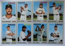 2019 Topps Heritage High Number Pittsburgh Pirates Base Team Set 8 Card - $4.99