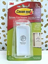 3M Command Damage Free Hanging 3LB LARGE Canvas Hanger W/Strips  NEW     image 1