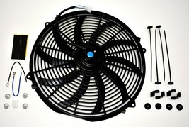 "A-TEAM 130031 16"" Heavy Duty 12V Radiator Electric Wide Curved S Blade FAN 3000 image 1"