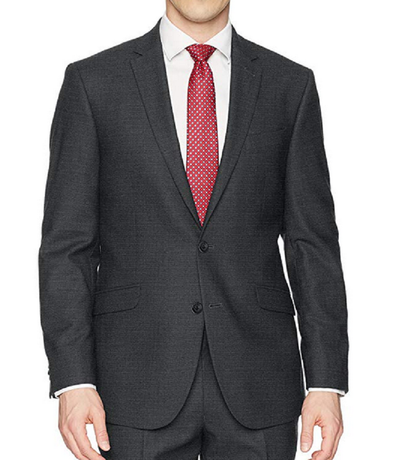 Primary image for Kenneth Cole Reaction TECHNI-COLE Slim Fit Suit Jacket, Gunmetal, 42R
