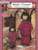 Far East Outfits, Fibre Craft World Friends Crochet Doll Clothes Pattern FCM440 - $5.95