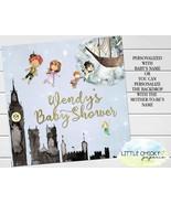 "Peter Pan Baby Shower Backdrop, 48"" x 48"" Digital Backdrop - $19.95"
