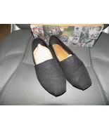 Toms Shoes Classic Canvas BLACK BURLAP Size 7.5 Women's EUC - $36.45
