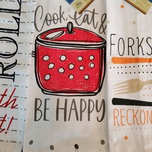 FLOUR SACK KITCHEN TEA TOWELS, Set of 4, Printed Cooking Designs Sayings, Cotton image 7