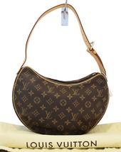 Authentic LOUIS VUITTON Monogram Pochette Croissant PM Shoulder Bag E3386 - $561.33
