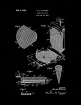 Cake Baking Iron Patent Print - Black Matte - $7.95+