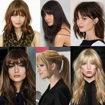 100% Natural Thin Bangs Fringe Clip in Hair Extensions Front Bangs image 11