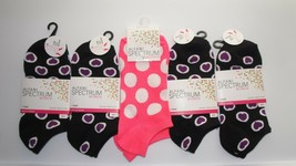 Alfani Spectrum Socks Sz 5-9 Womens 5 Pair Low Cut Hearts Polka Dotted B... - $7.69