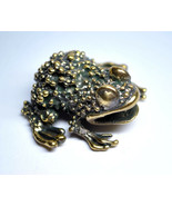 Pimply frog - a cute frog figurine, bronze frog statuette, metal frog fi... - $16.50