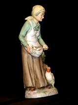 Figurine of Old Woman gathering eggs HOMCO 1434 AA19-1619 Vintage image 2