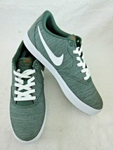 Nike Mens SB Check Solar Canvas Premium Shoes Midnight Green White Size ... - $54.44