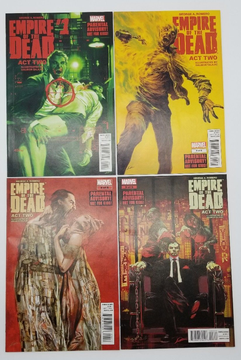 Empire of the Dead 1 2 3 4 Act Two November 2014 Marvel Comics George A. Romero