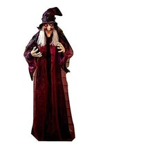 "71"" Life Size Hanging Talking Witch Halloween Haunted House Prop Animate... - $65.53"