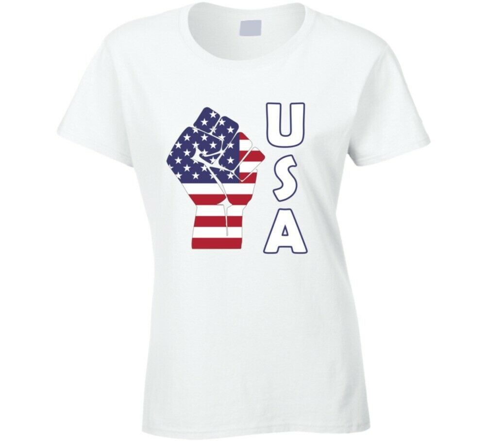 Fight Power Usa Ladies T Shirt
