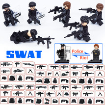WW2 SWAT Military Soldier Vs RIOT With Many Weapon Etc Fit Lego War Bloc... - $14.99