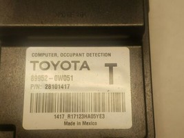 Lexus Toyota  Occupant Detection Sensor Module Computer 89952-0W051 image 2