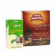 Vietnamese Coffee Pour Over Set - 2 Pcs. -Trung Nguyen Gourmet Whole Bea... - $29.32