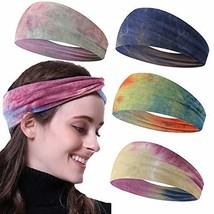 KWHY Headbands for Women,4-8 Pack Yoga Running Sports Cotton Headbands Boho last