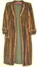 France Olivia mink fur coat FR 44 full length mahogany chic sophisticate brown image 6