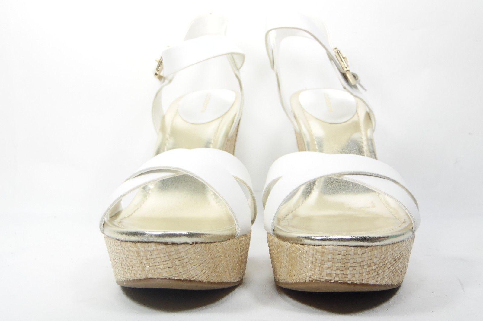 Liz Claiborne Cece White Wedge Sandals Womens 9.5 M