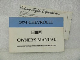 1974 Chevrolet Chevy Owners Manual 16019 - $18.76