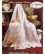 Hawaiian Dreams Mile-A-Minute Afghan TNS Crochet Pattern/Instructions Leaflet - $3.57
