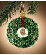 Emerald Wreath Christmas Jewels 2011 charmed ornament beaded kit Mill Hill - $6.30