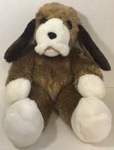 Vermont Teddy Bear Friend for life Puppy Dog plush brown white vintage - $29.69