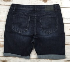Silver J EAN S Shorts Buckle High Waisted Rise Avril Dark Denim Short 28 - $23.84
