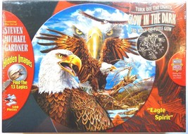 American Eagle Spirit 500 Piece Puzzle Jigsaw Liberty Patriot Glow in the Dark  - $29.99