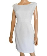 MK Michael Kors White Dress sz 12 L Gold Buttons New $180 - $55.00