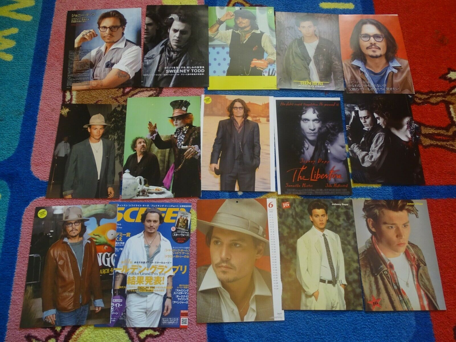 Primary image for Johnny Depp teen magazine pinup clippings lot Teen Beat Bop Superteen teen idol