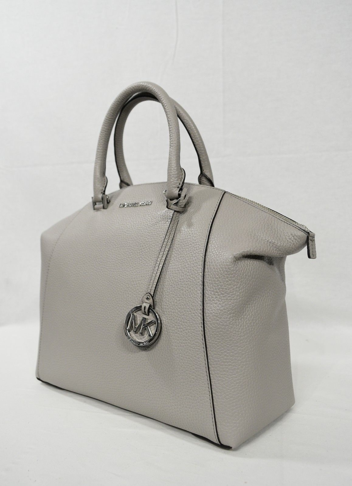 6c88361c4325 S l1600. S l1600. Previous. Michael Kors Riley Large Satchel/Shoulder Bag  in Pearl Grey with Silver Hardware