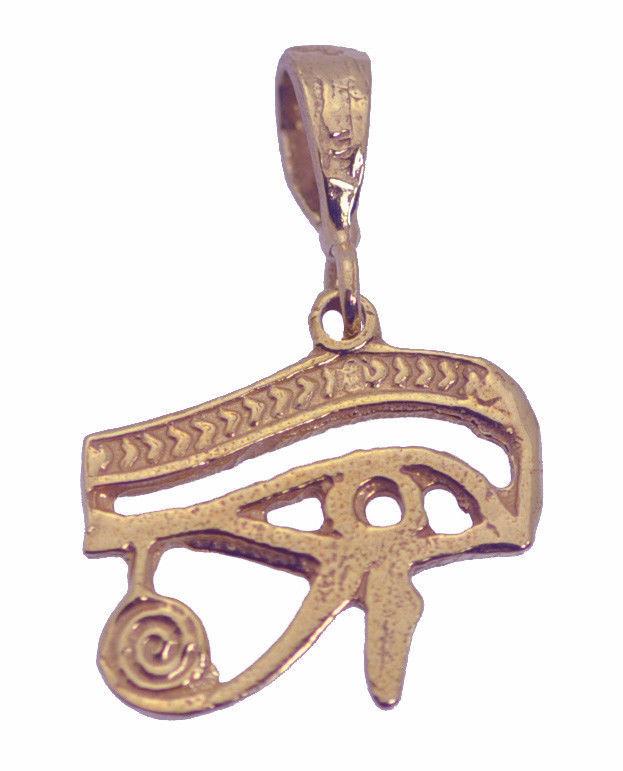 Rose / Gold Pltd / Sterling silver Eye of horus RA protection power Health charm