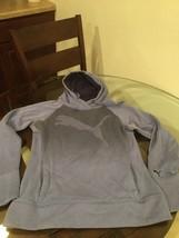 Men's Blue Puma Hoodie Sweatshirt Medium - $12.86