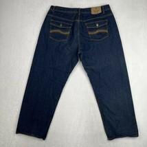 Jeanius Akademiks Men's Size 44x30 Jeans Relaxed Fit Blue Dark Wash Deni... - $23.12