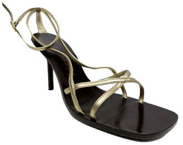 ANNE KLEIN Size 8 1/2 Gold Sandals Heels Shoes 8.5 - $15.30