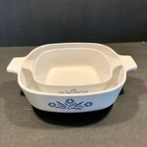 Corning Ware 1 Qt. Blue Cornflower White Casserole Dish P-1-B & 1 3/4 cup Mini - $23.33