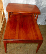 MId Century Solid Cherry Step End Table / Side Table - $399.00