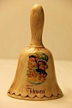 Vintage1960's Dole Kids Hawaii Treasure Craft Ceramic Bell of Hula Girl ... - $19.23