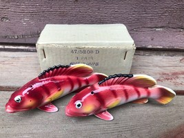 VTG UCAGCO Tropical Fish Salt Pepper Shakers w Orig. Box Japan 1950's - $39.55
