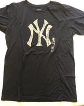 New York Yankees MLB Majestic Threads Cotton Black T-Shirt Womens Size Large L - $14.20