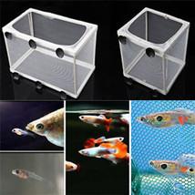 Aquarium Fish baby Isolator Tank Guppy Breeding Breeder Fry Net TrapBox ... - $12.99