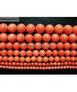 Natural Coral Gemstone Round Beads Orange 16'' 3mm 4mm 5mm 6mm 7mm 8mm 9mm - $2.77+
