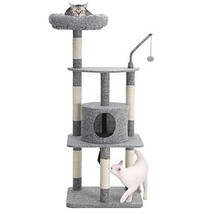 FEANDREA 53 inches Multi-Level Cat Tree with Sisal-Covered Scratching Po... - £69.29 GBP