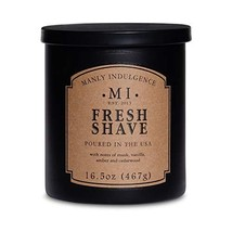 Manly Indulgence 16.5 oz Classic Collection Fresh Shave Scented Jar Candle | Lea