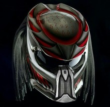 Predator Motorcycle Helmet Red And White (Dot / Ece Certified) - $355.00