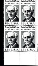 USPS  Stamps - Adolph S. Ochs, Publisher 1976 - Plate Block - $4.95